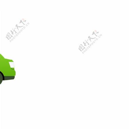 绿色小汽车行驶动态GIF