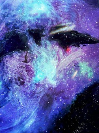 科技感星空梦幻背景素材