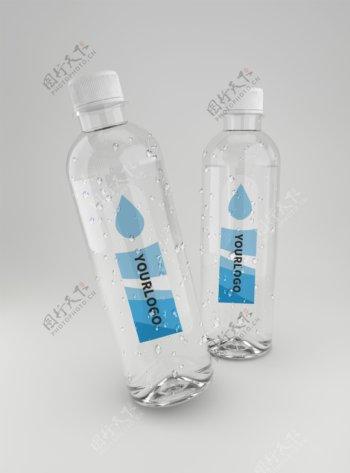原创模型水瓶矿泉水样机