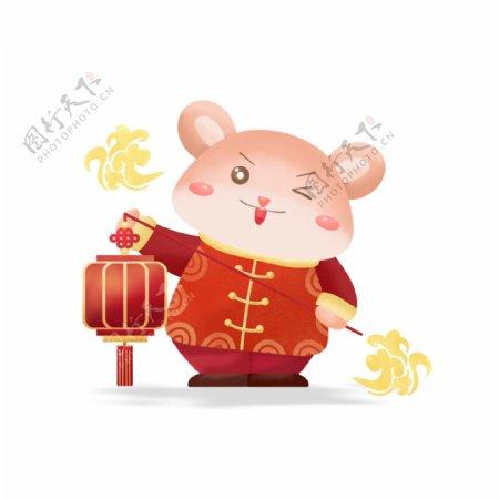 2020鼠年贺岁可爱卡通鼠提灯笼