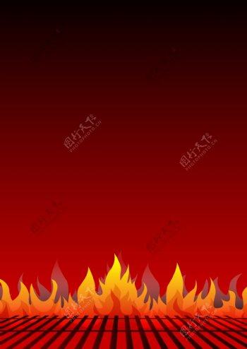 黑红色火焰背景