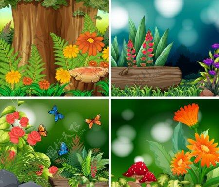 卡通植物插画