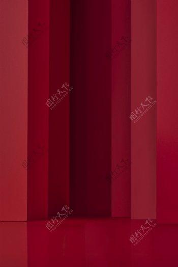 大红色静物空间背景