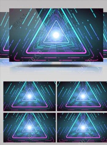 三角几何图形光束移动视频素材