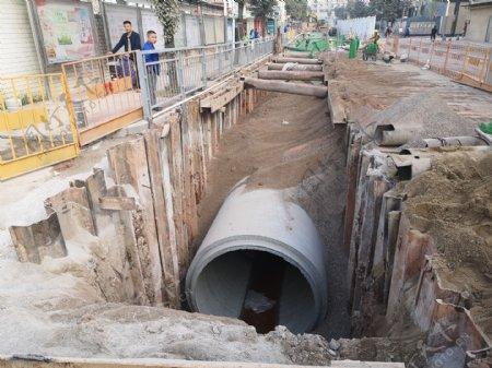 下水道施工照片