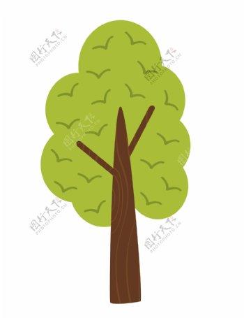 小清新卡通植物树木