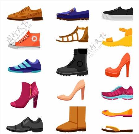 鞋子图标ICON设计