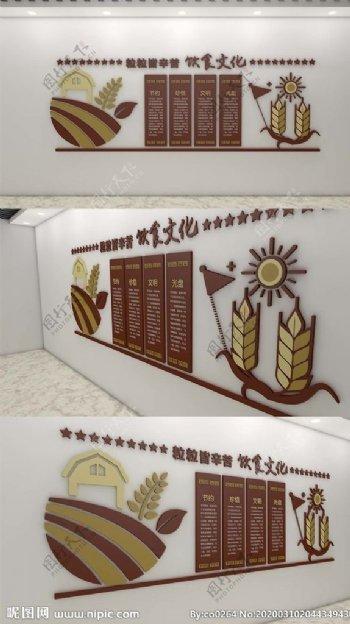 饮食文化形象墙