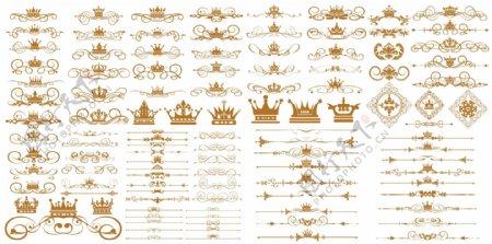 百款皇冠花纹装饰边框