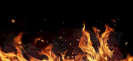 火山爆炸火焰背景烟雾