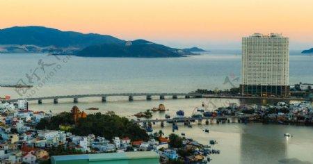 亚洲大海风景越南地平线