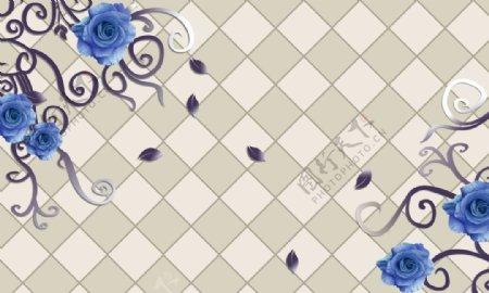 菱形蓝玫瑰