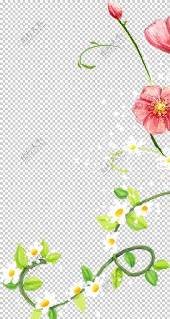 花朵藤蔓叶子元素素材