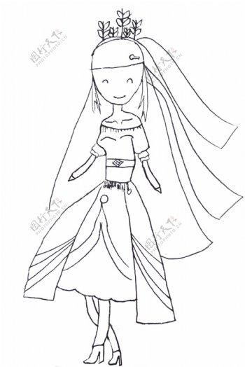 儿童画小公主