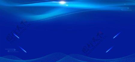 蓝色会议背景