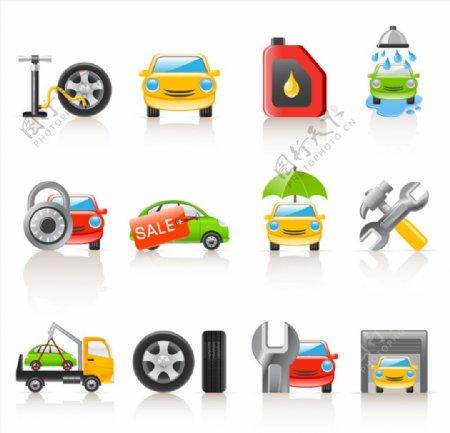 矢量汽车配件元素