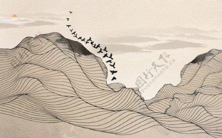 中式抽象山水