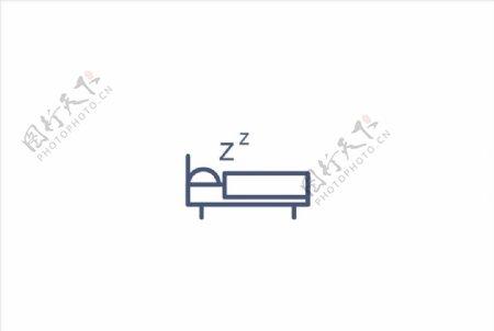 睡觉赚钱矢量图标