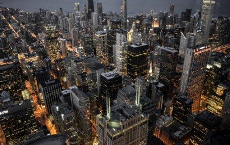 城市建筑大楼天空蓝色背景素材