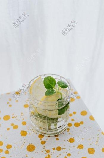 柠檬茶饮料柠檬饮品背景素材