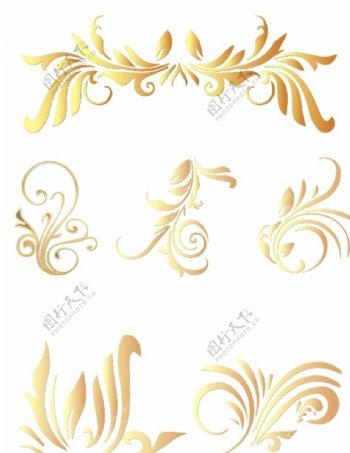 古典欧式风格矢量花纹