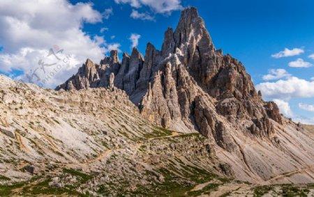 山峰悬崖顶峰天空蓝色背景素材