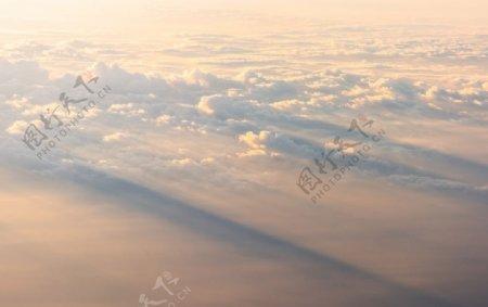 白云云朵霞光