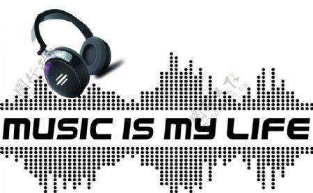 音乐素材耳机