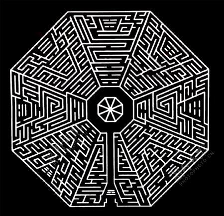 彩色八卦迷宫图