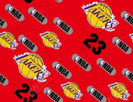 NBA数字印花