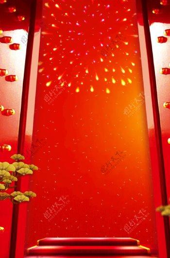 红色开门红背景