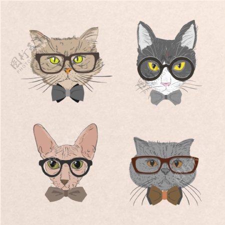 卡通猫猫头素材