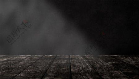木纹木板黑色背景海报素材