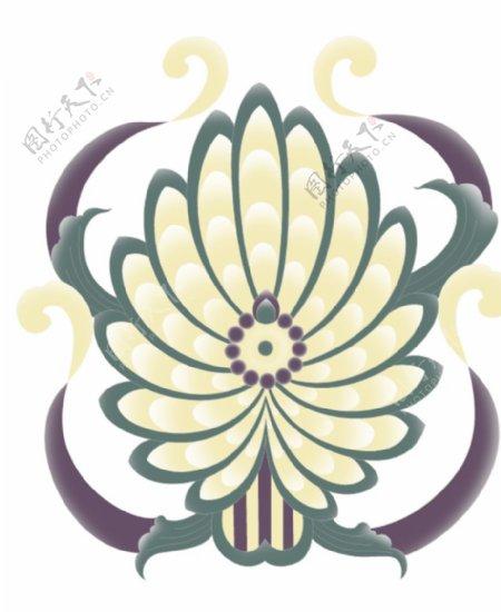 窗帘花样原创设计大菊花