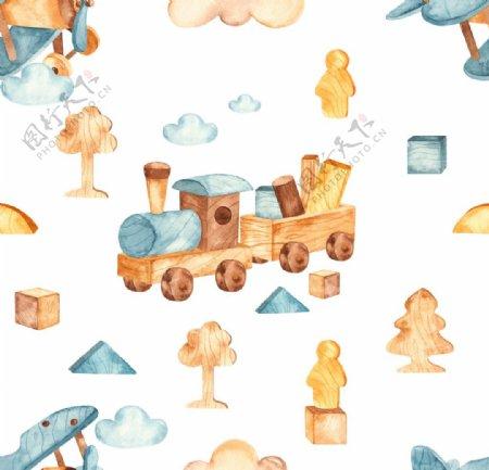 儿童玩具拼接背景