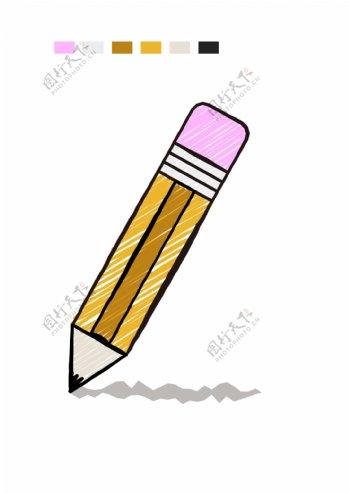 ai手绘风格铅笔绘制