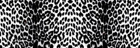 匹印撇丝豹纹数码印花手
