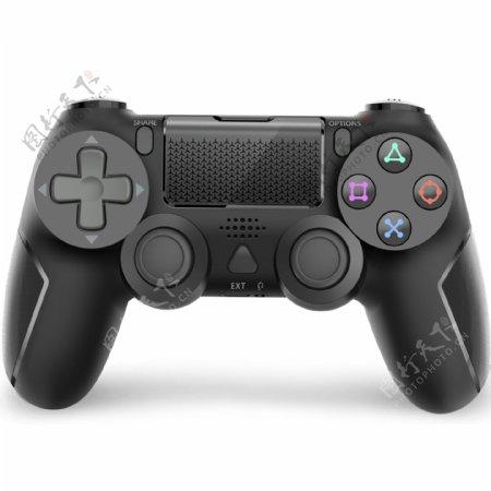 PS4手柄黑色亚马逊主图白底图