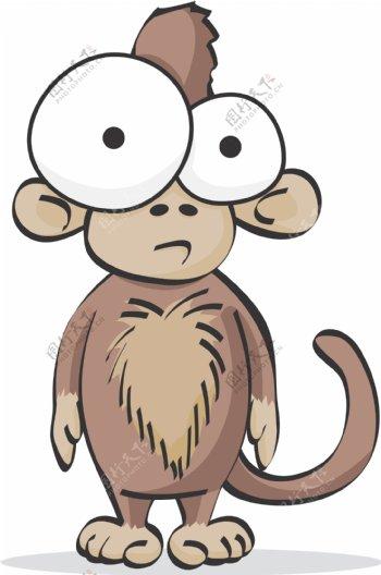 猴子搞笑搞怪动物卡通大眼睛