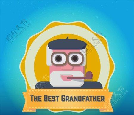 最好祖父徽章