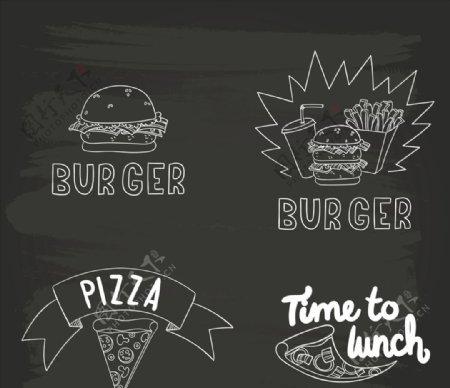 手工绘制快餐黑板上