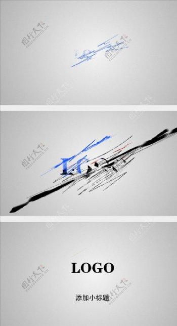 线条涂鸦绘制logo片头AE模