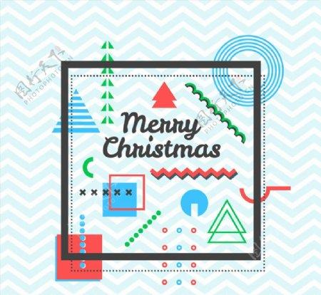 抽象图案圣诞节贺卡图片