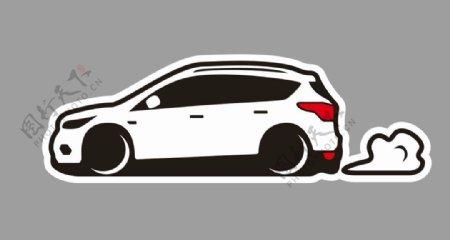 福特翼虎SUV卡通轿车图片