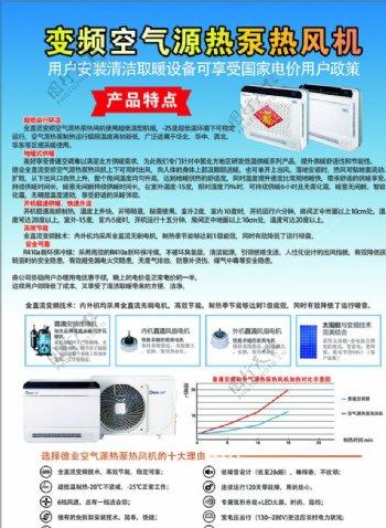 变频空气源热泵热风机宣传彩页图片
