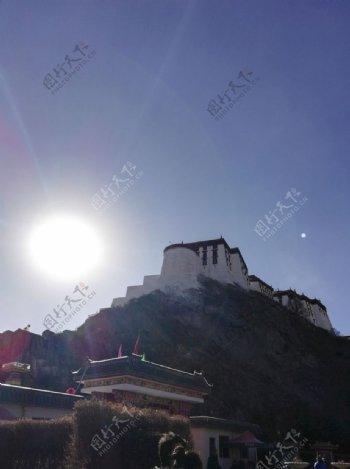 布达拉宫日出风景图片