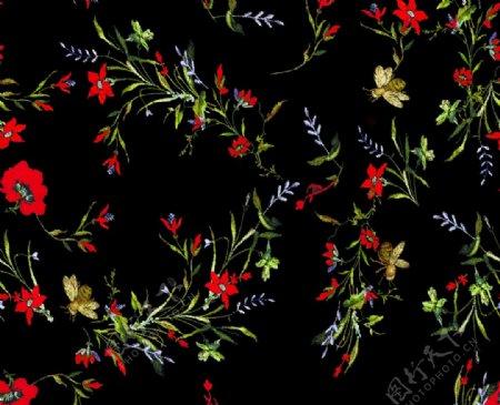 刺绣花鸟图片