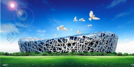 北京鸟巢素材图片