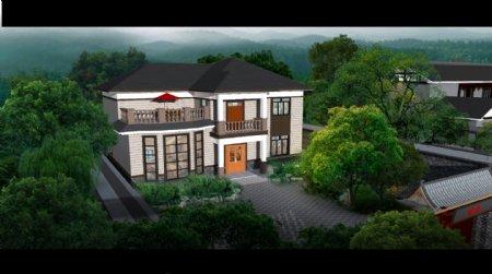 两层欧式别墅图片