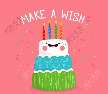 可爱表情生日蛋糕图片